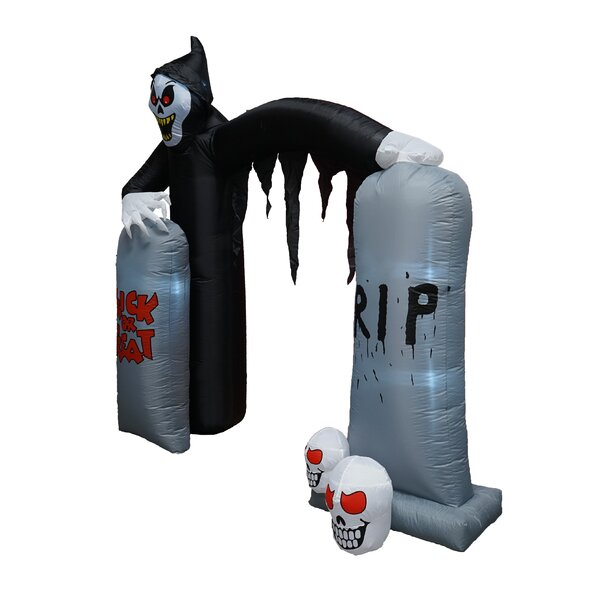 Halloween Reaper and Tombstone Archway Inflatable by The Holiday Aisle
