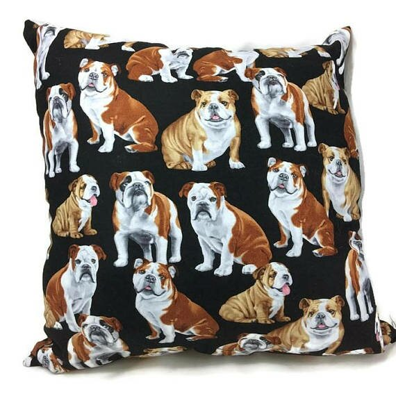 English Bulldog Throw Pillow by East Urban Home