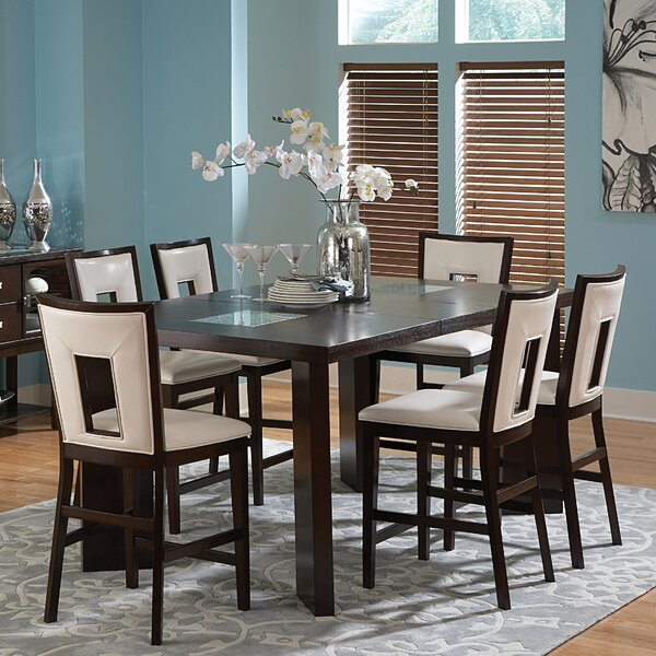 Hillcrest 7 Piece Counter Height Extendable Dining Set by Brayden Studio