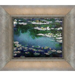 Water Lilies' by Claude Monet Framed Painting on Canvas by Tori Home
