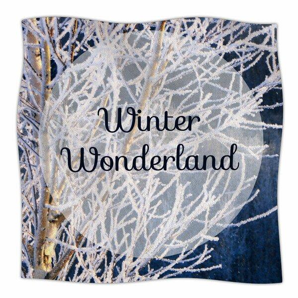 Winter Wonderland by NL Designs Fleece Blanket by East Urban Home