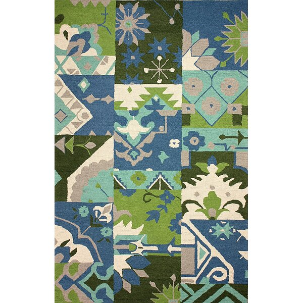 Meadowbrook Hand-Hooked Blue Sultana Area Rug by nuLOOM
