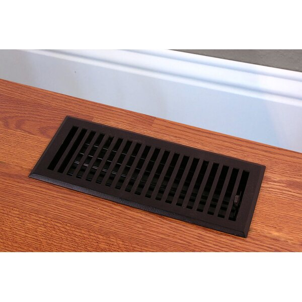 Solid Cast Iron Contemporary Vent Cover in Black by HRVents