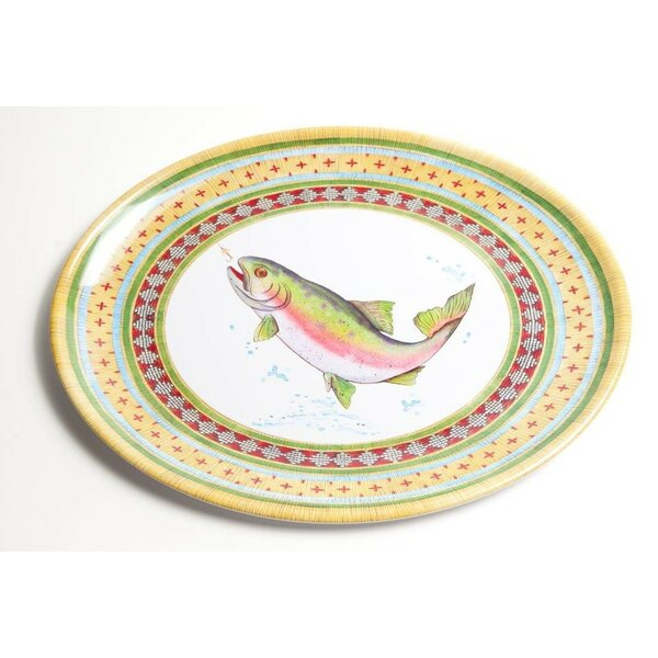 Yacht and Home Trout Melamine Oval Platter by Galleyware Company