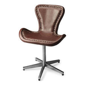 loft midway aviator leather desk chair