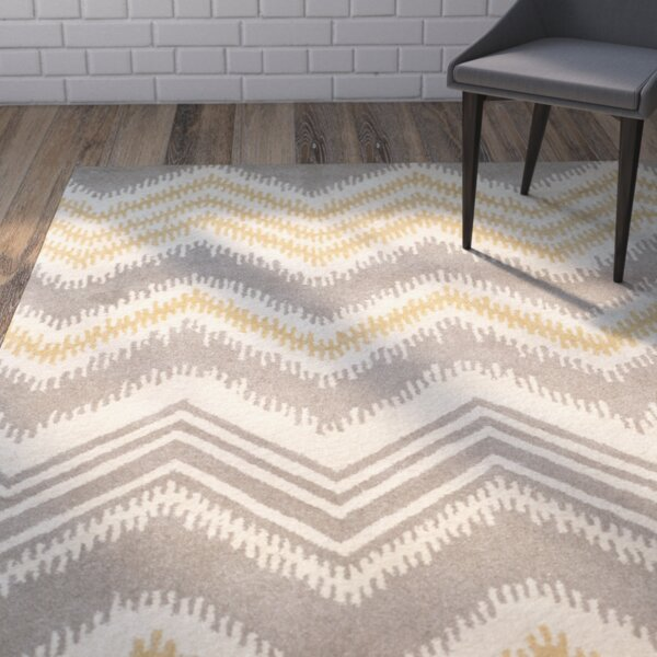 Hodges Gray/Gold Area Rug by Wrought Studio