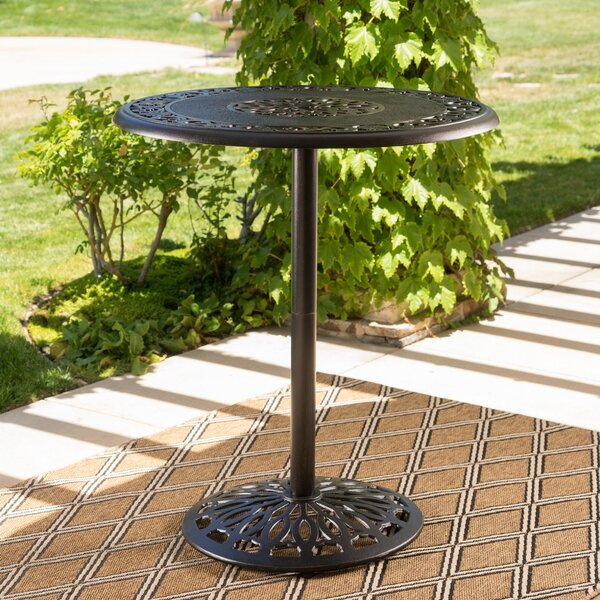 Ainsworth Aluminum Bar Table By Astoria Grand by Astoria Grand Looking for