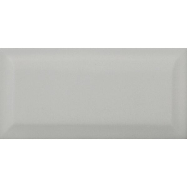 Choice Beveled 3 x 6 Ceramic Subway Tile in Glossy Gray by Emser Tile