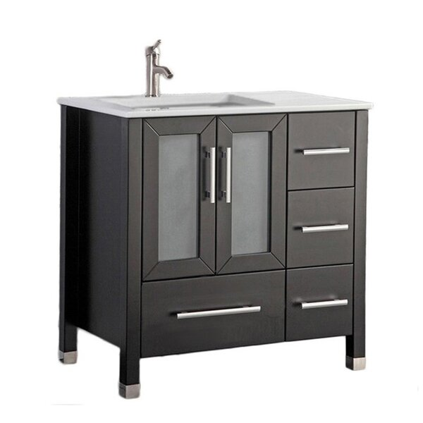 Nadeau Modern Left Side 36 Single Bathroom Vanity Set by Ivy Bronx