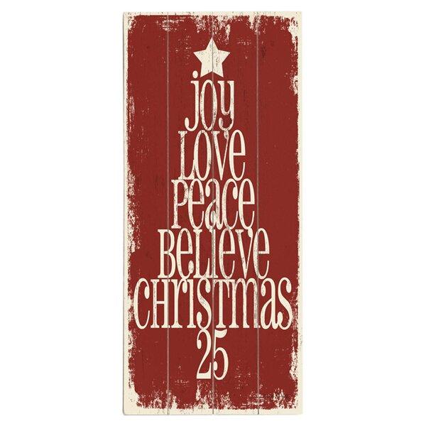 Joy Love Peace Graphic Art Print Multi-Piece Image on Wood by Artehouse LLC