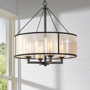 Edison light chandelier wayfair dailey 4 light drum chandelier mozeypictures Gallery