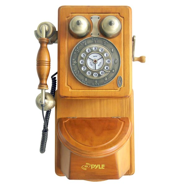 Pyle Retro Country-Style Wall Phone by SereneLife