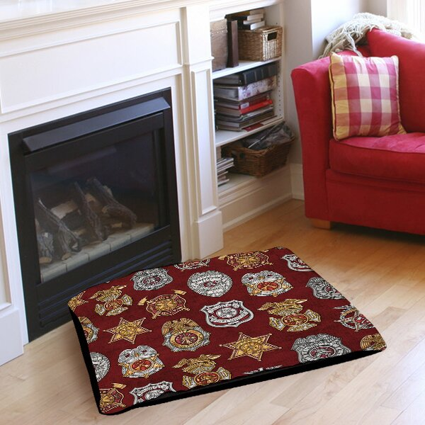 Firefighter Badges Pet Bed by Manual Woodworkers & Weavers