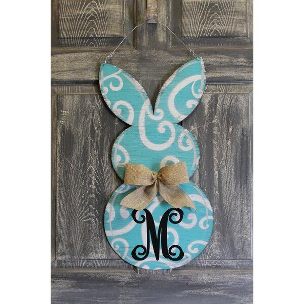 Rabbit Door Hanger Swirl Sign by Southern Steel Designs