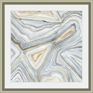 'Agate Abstract I' Framed Painting Print by Wade Logan