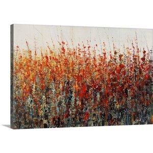 'Crimson Evening' by Jason Jarava Painting Print on Canvas by Great Big Canvas
