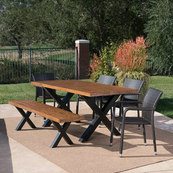 Riemer Outdoor 6 Piece Dining Set by Loon Peak