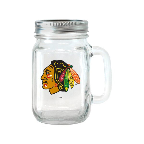 NHL Glass 16 oz. Mason Jar (Set of 2) by Boelter Brands
