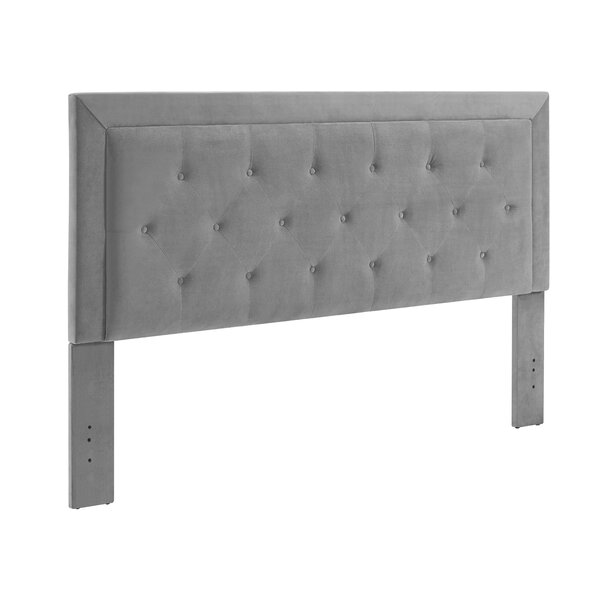 Birute Upholstered Panel Headboard by World Menagerie