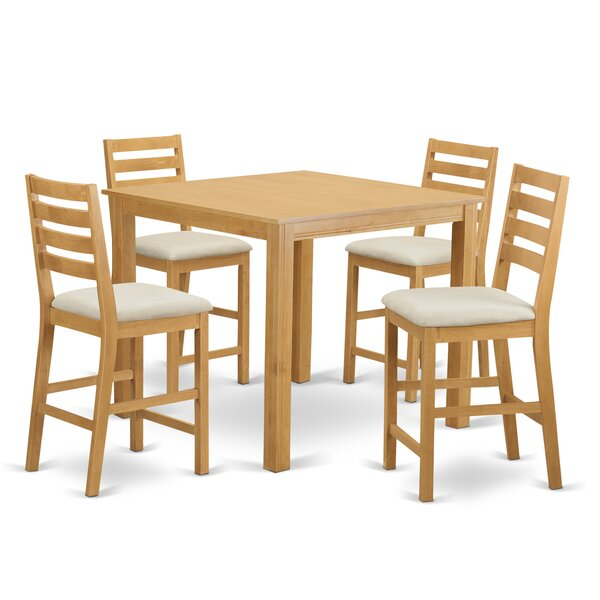 Songer 5 Piece Solid Wood Dining Set By Charlton Home