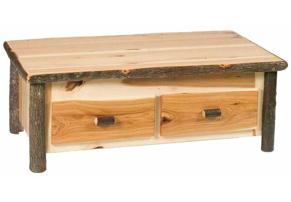 Hickory Lift Top Coffee Table with Storage by Fireside Lodge