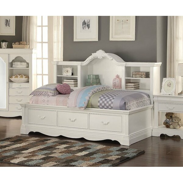 Twin Captians Bed with Storage and Shelves by Infini Furnishings