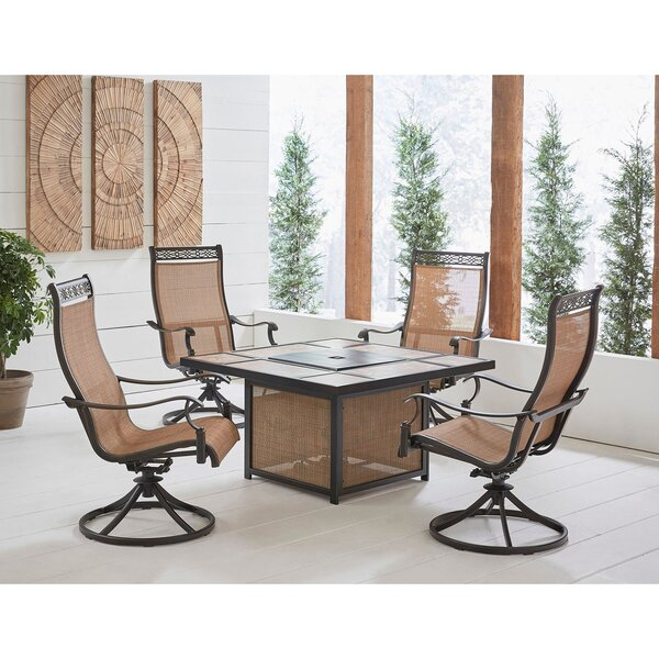 Carlee 5 Piece Multiple Chairs Seating Group by Fleur De Lis Living