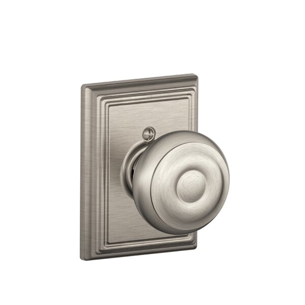 Georgian Knob with Addison Trim Non-Turning Lock by Schlage