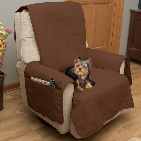 Waterproof Quilted Box Cushion Armchair Slipcover by Petmaker