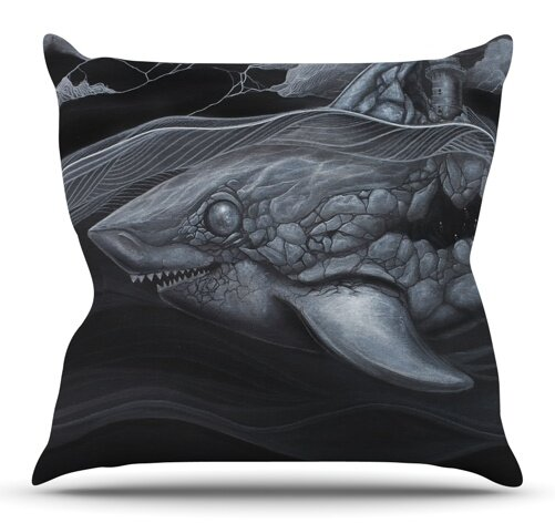 Troubled Joe by Graham Curran Outdoor Throw Pillow by East Urban Home
