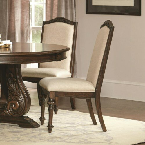 Abdul-Salaam Upholstered Dining Chair (Set of 2) by One Allium Way