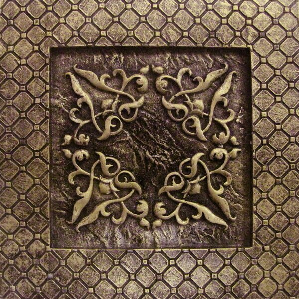 Camelot 4 x 4 Metal Igraine Decorative Accent Tile in Bronze by Emser Tile