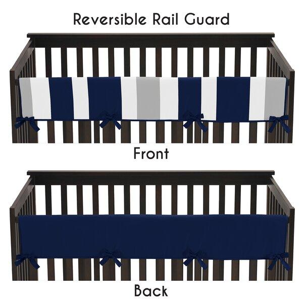 Stripe Long Crib Rail Guard Cover by Sweet Jojo Designs