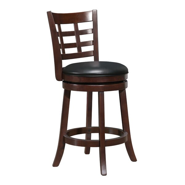 Quarry 29 Swivel Bar Stool by Three Posts