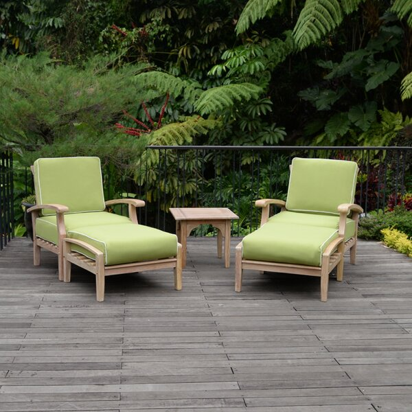 Monterey 5 Teak 2 Person Seating Group with Cushions by Cambridge Casual