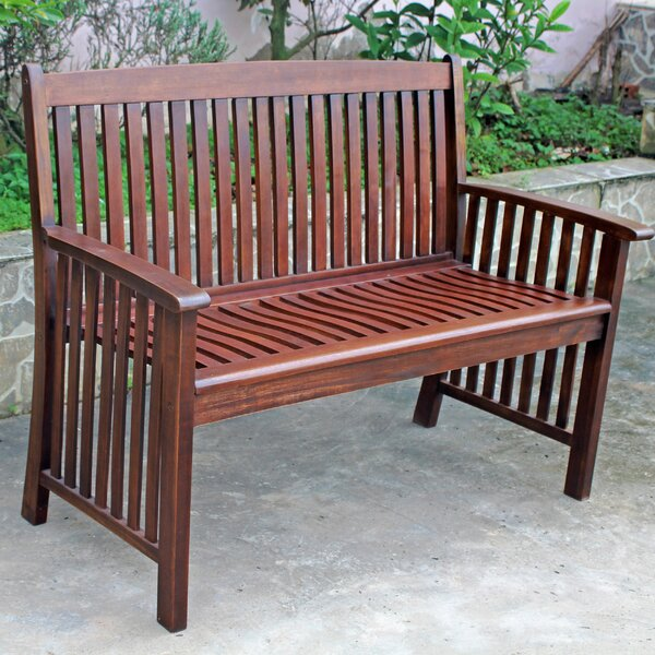 Rothstein Wooden Garden Bench by Beachcrest Home Beachcrest Home