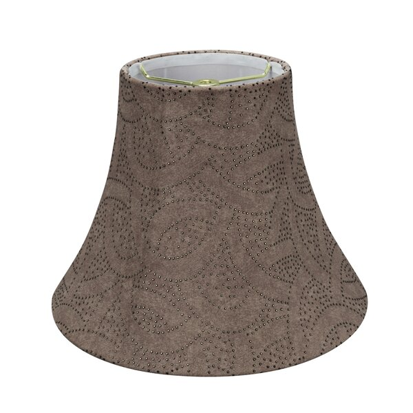 9.5 H Linen Bell Lamp Shade ( Spider ) in Brown