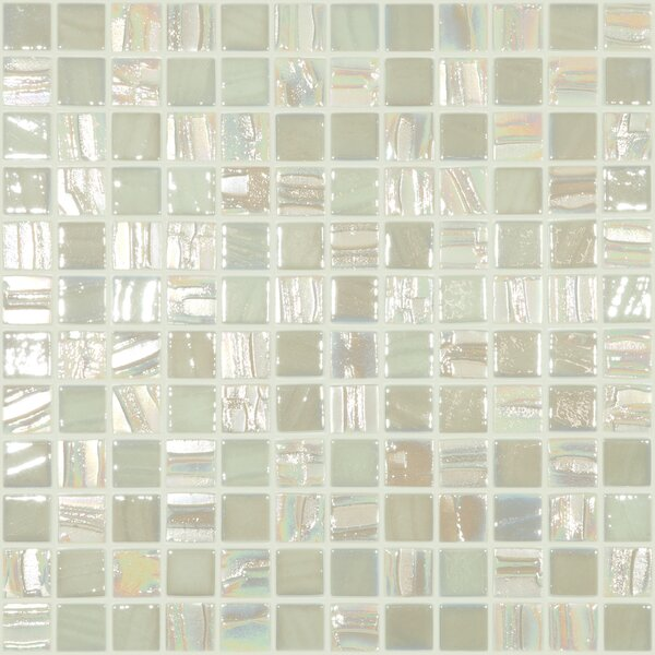 Moon Blends 12.375 W x 12.375 L Eco Glass Mosaic in Moon Beam by Kellani