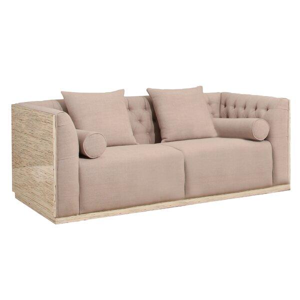 Chauntel Fabric Wood Chesterfield Standard Sofa by Willa Arlo Interiors
