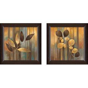 'Autumn Melange I' 2 Piece Framed Print Set on Glass by Red Barrel Studio