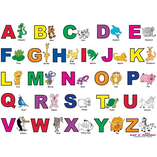 Alphabet Play Placemat by Magic Slice