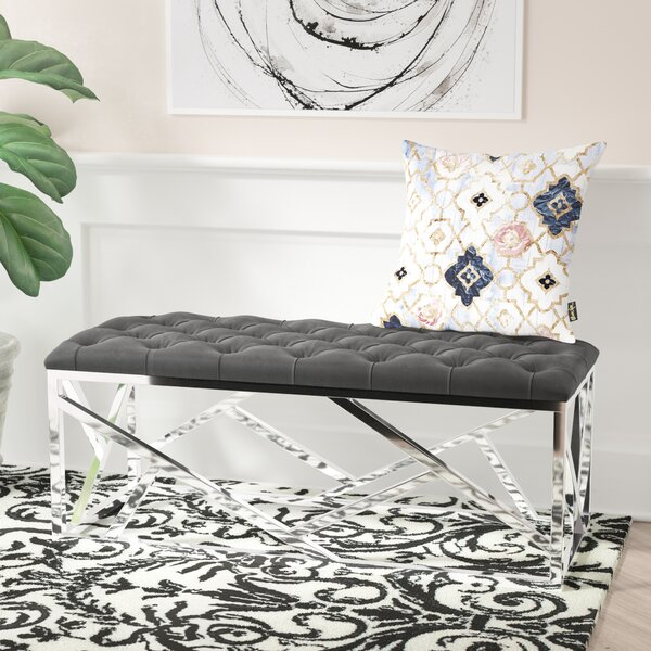 Colworth Metal and Metal Bench by Everly Quinn Everly Quinn
