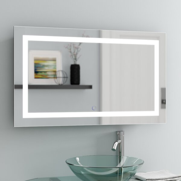 Ries LED Lighted Wall Mirror by Orren Ellis