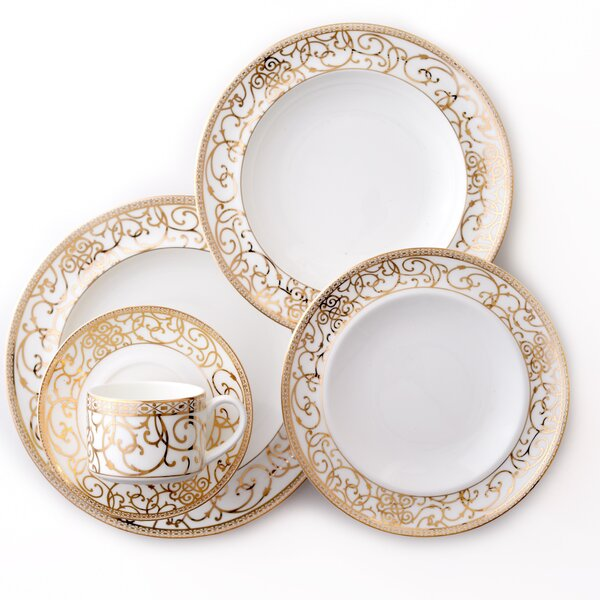 Athena Bone China 5 Piece Place Setting, Service for 1 by Darbie Angell