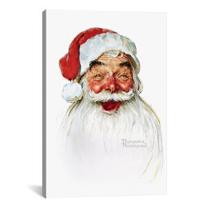 'Santa Claus' by Norman Rockwell Graphic Art by Three Posts