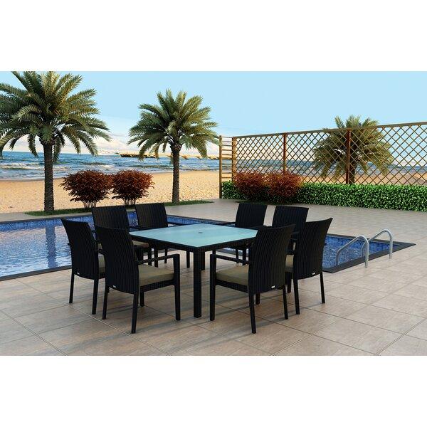 Azariah 9 Piece Sunbrella Dining Set With Cushions By Orren Ellis