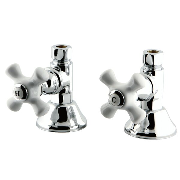 Trimscape Straight Stop Shut Off Valve Centerset Bathroom Faucet (Set Of 2) By Kingston Brass