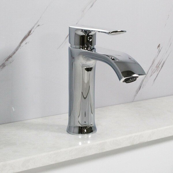 Spring Single Hole Bathroom Faucet with Drain Assembly