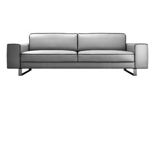 Waverly Leather Sofa by Modloft Black SKU:BE393361 Purchase