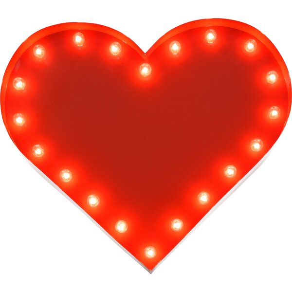 Heart Indoor/Outdoor 20 Light Marquee Light by TrekBeds
